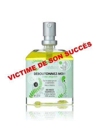 Déboutonnez-moi ! lotion naturelle aux huiles essentielles pour lutter contre imperfections - victime de son succes