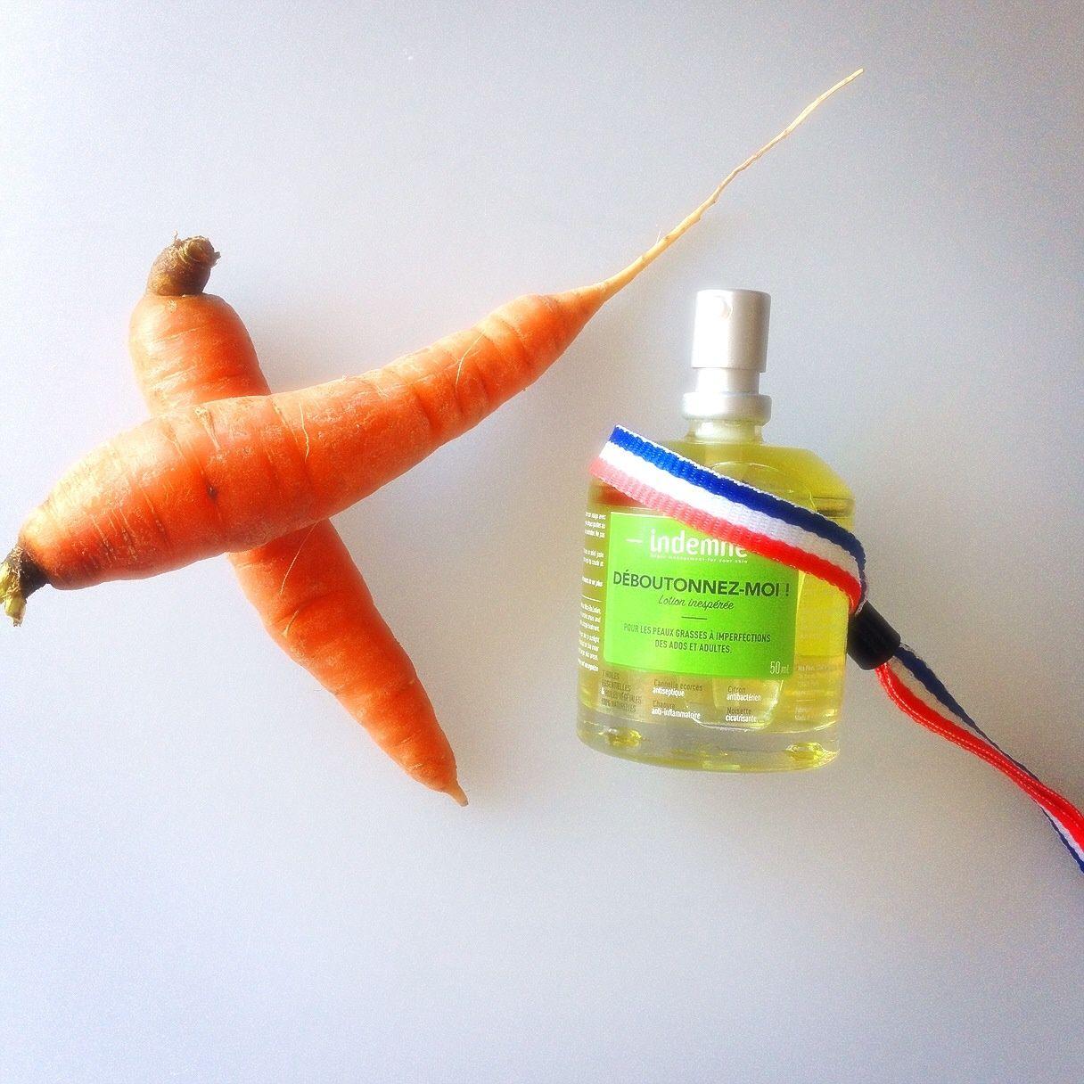 Lotion anti-imperfections et boutons à la semence de carottes