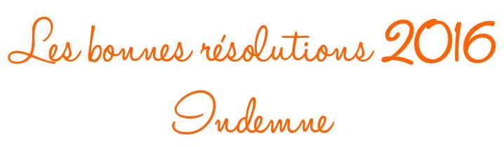Bonnes résolutions année 2016 de la marque Indemne