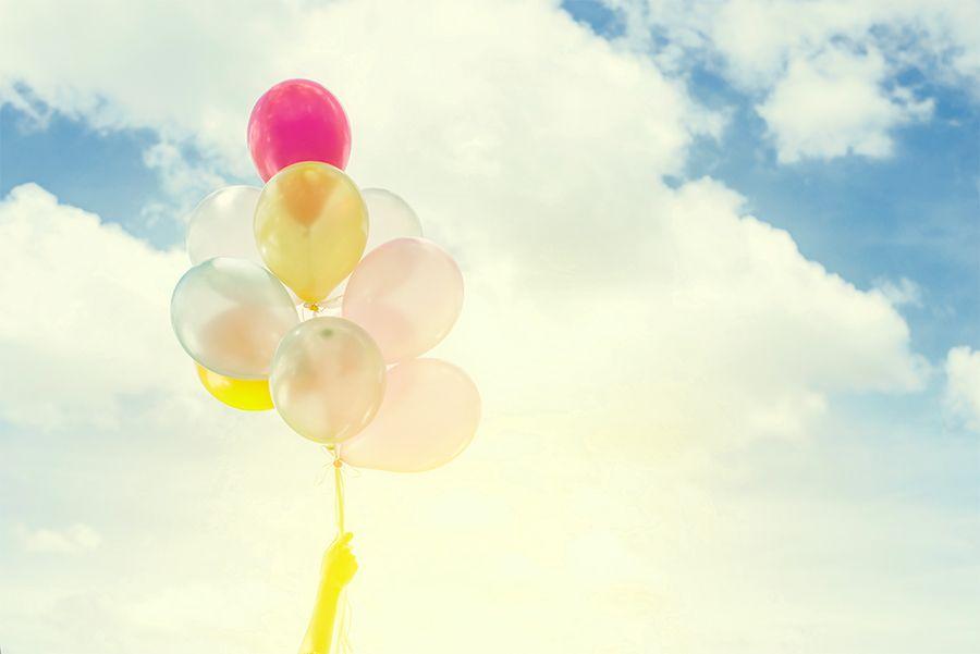 Ballons symbole de liberté