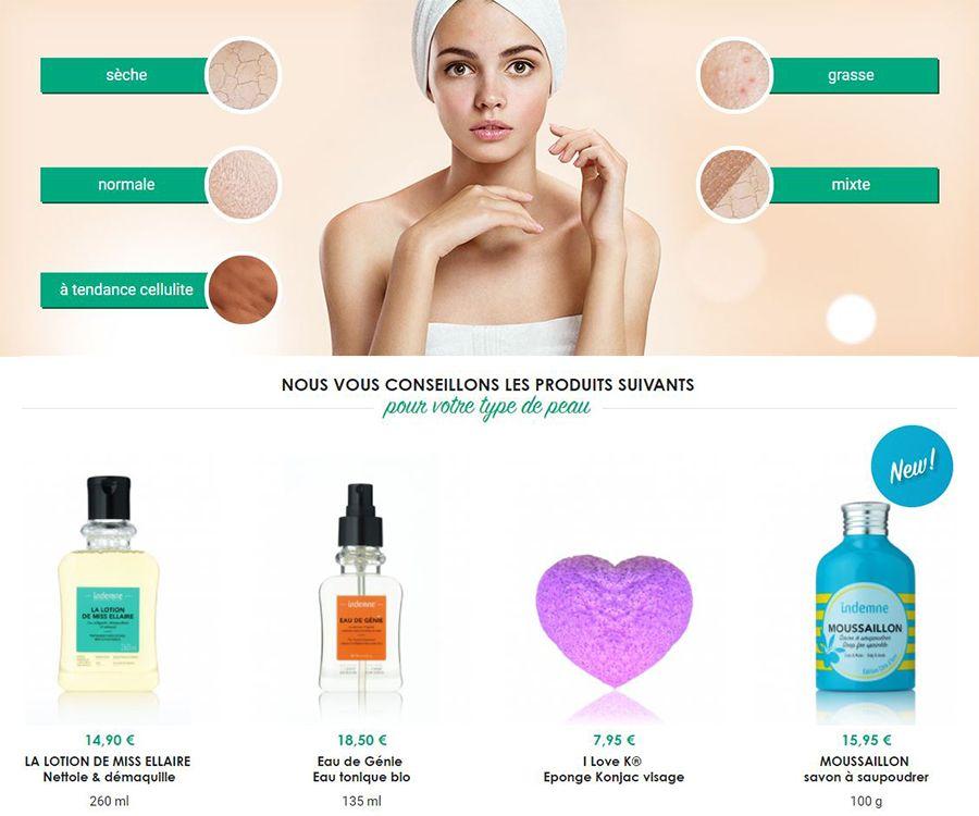type de peau et produits conseillés