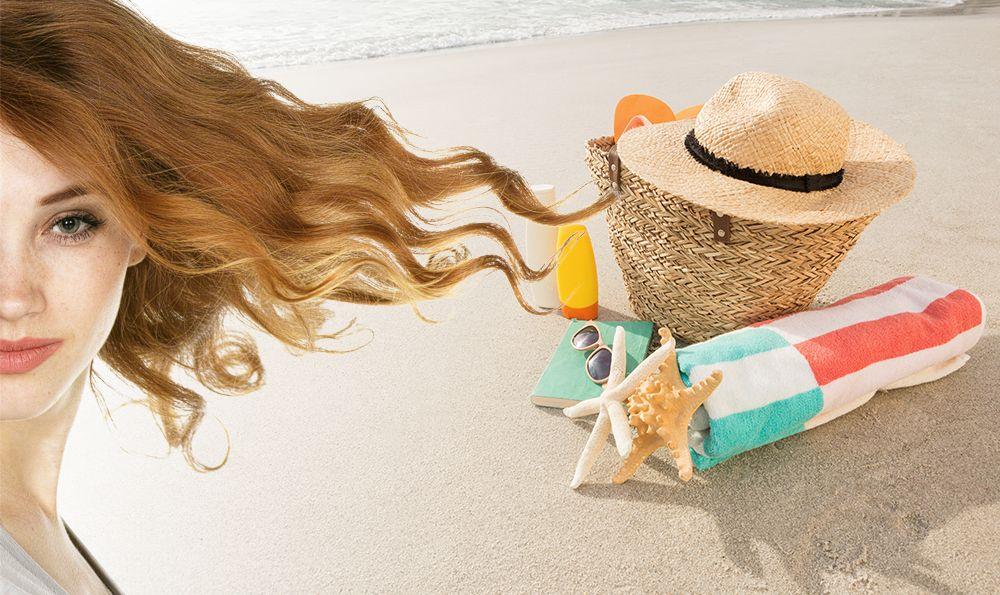 Healthy hair in summer