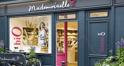 Photo d'une boutique de Mademoiselle Bio Paris.