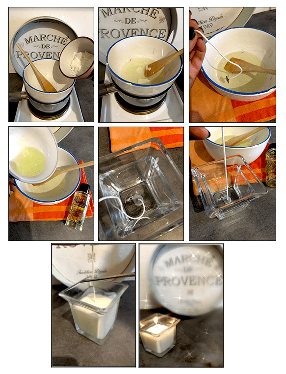 scented candle DIY indemne