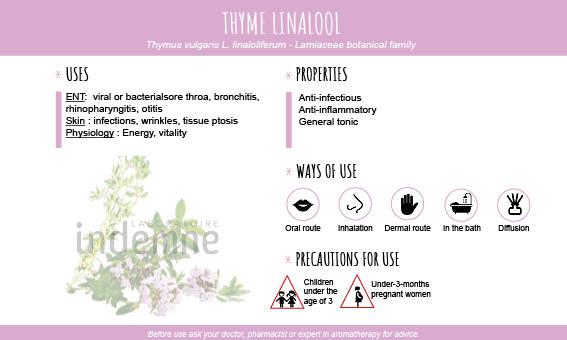 Thyme linalool essential oil
