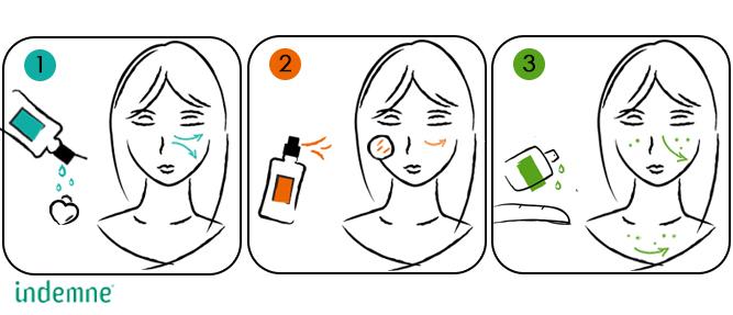 Cure de beauté naturelle anti-imperfections, boutons, acné et microkystes
