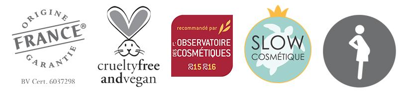 labels et certifications cosmétiques naturels marque Indemne