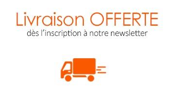 Inscription à la newsletter livraison offerte Indemne produits cosmétiques naturelles